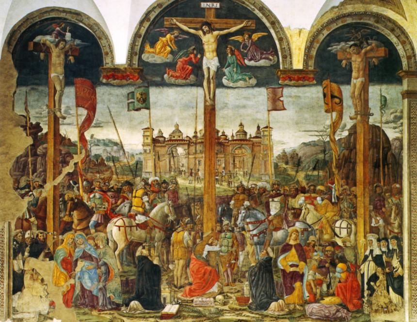 La Crucifixión de Giovanni Donato da Montorfano