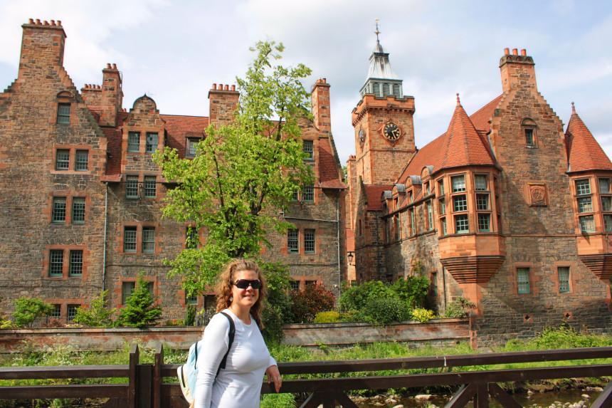 Well Court Hall y la torre del reloj