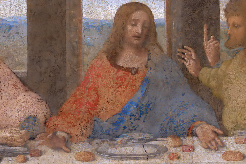 detalle del cenacolo vinciano