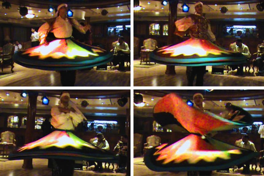 danza sufí durante un crucero por el Nilo