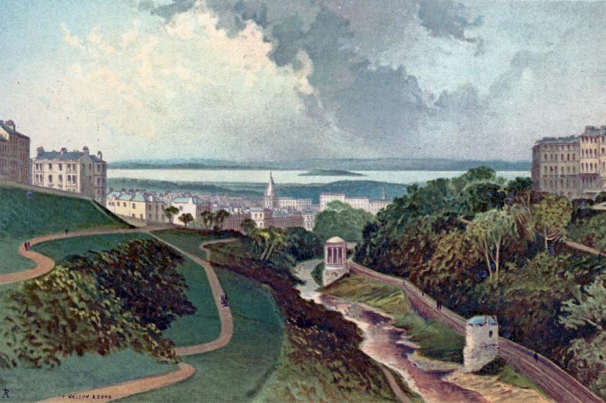 Panorámica desde Dean Bridge en el s. XIX