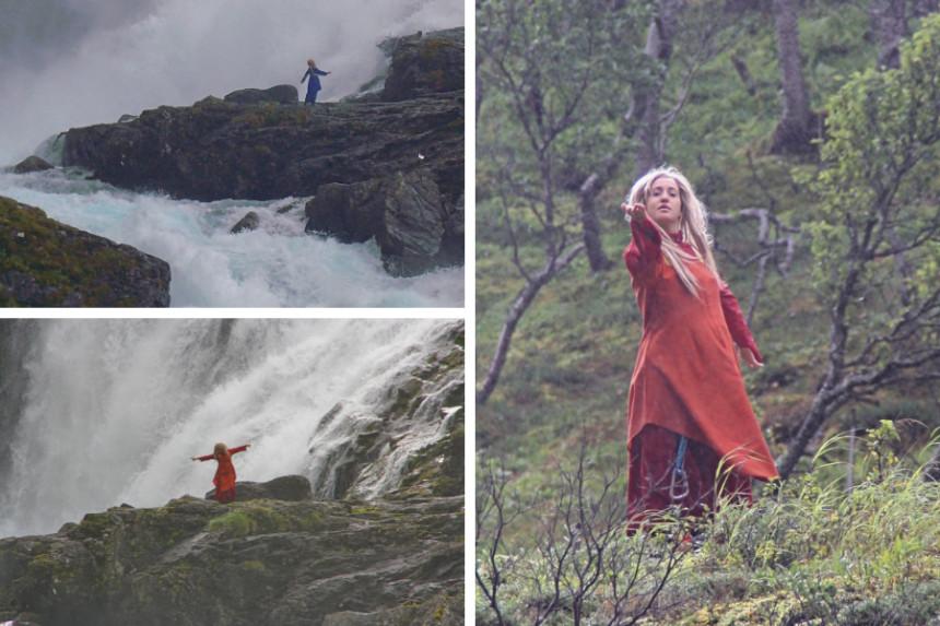 huldra en cascada Kjosfossen