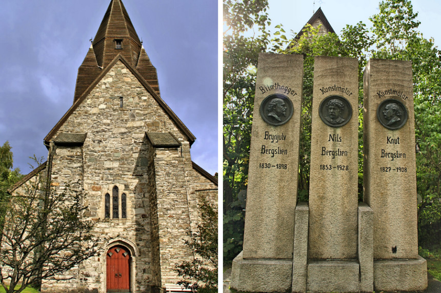 iglesia Vangskyrkja y monumento